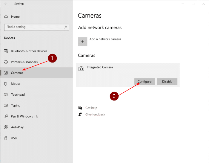 change camera settings in Windows 10 pic1