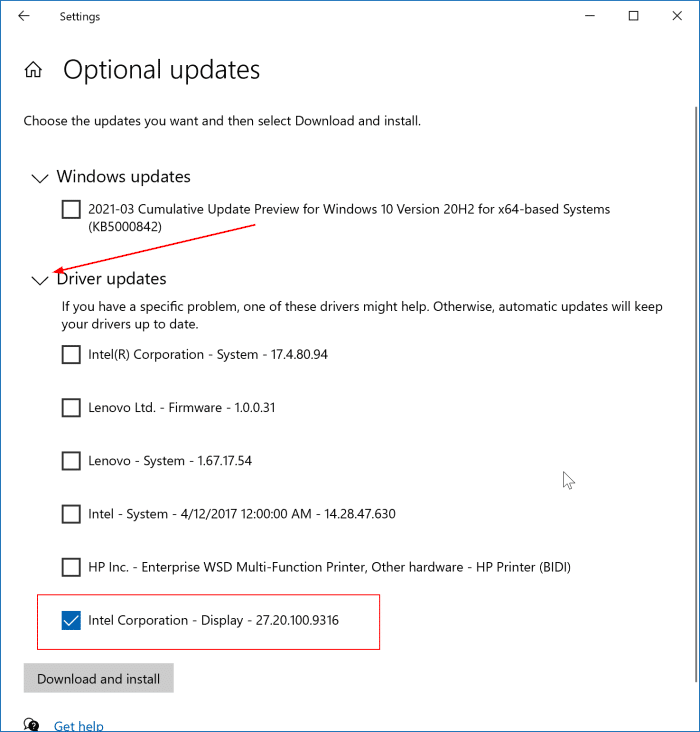 update display driver in Windows 10 pic2