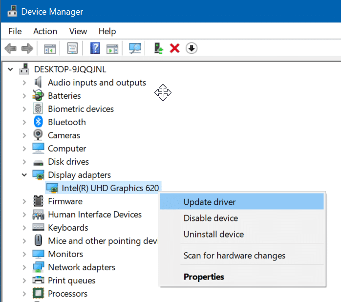 update display drivers in Windows 10 pic9