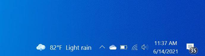 remove temparature from Windows 10 taskbar
