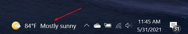 show temparature in celsius or fahrenheit on Windows 10 taskbar pic03