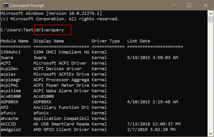 view all installed drivers in Windows 10 pic2