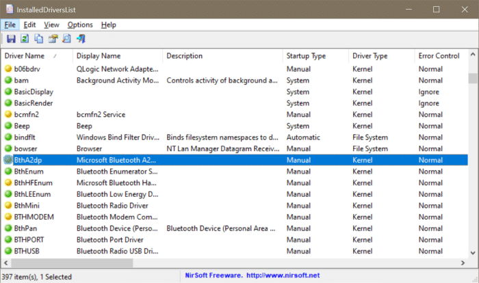 view all installed drivers in Windows 10 pic3