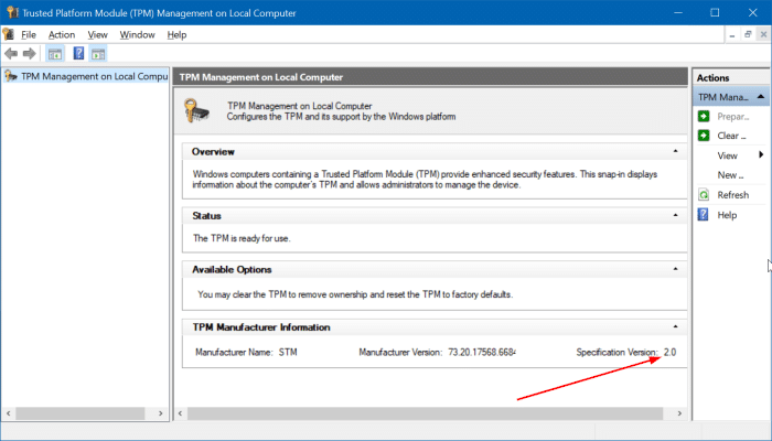 3 ways to check TPM version in Windows pic2