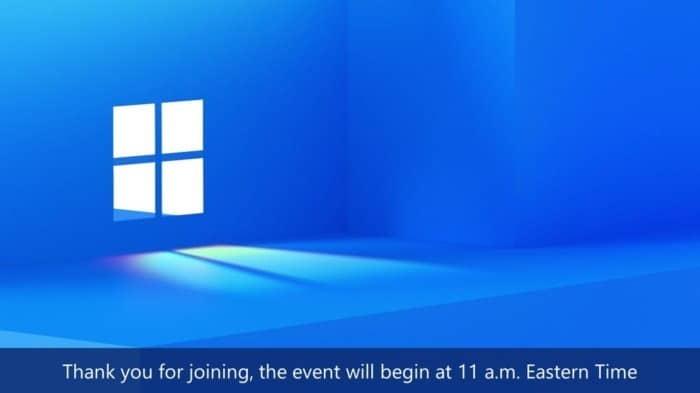 Watch Windows 11 event here