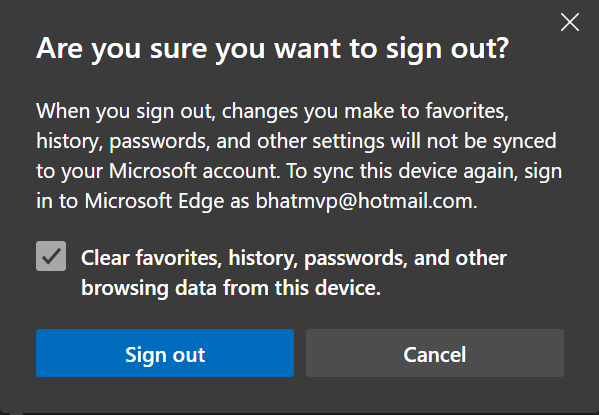 sign out of Microsoft account in Edge browser pic6
