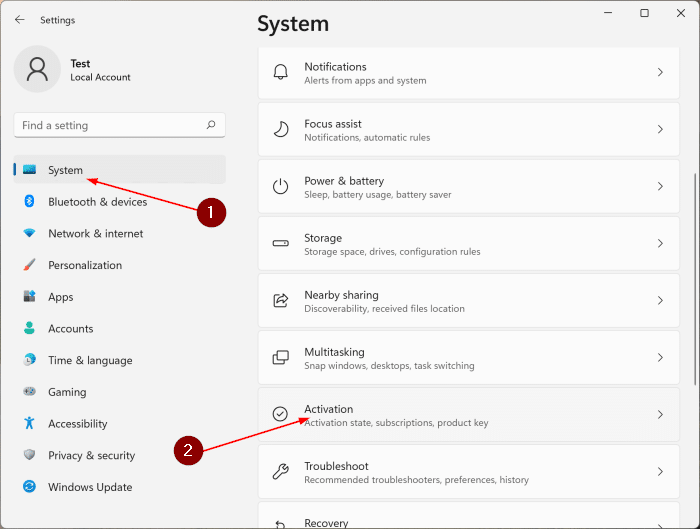 Check Windows 11 activation status pic1