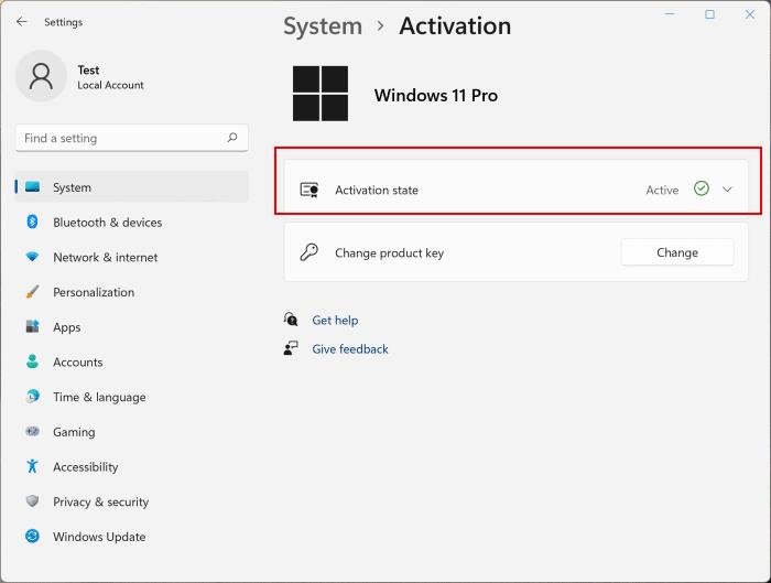 Check Windows 11 activation status pic2