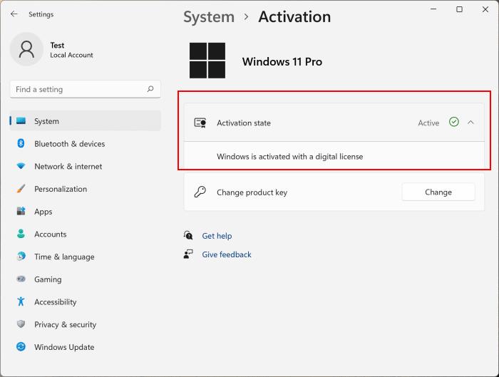 Check Windows 11 activation status pic3