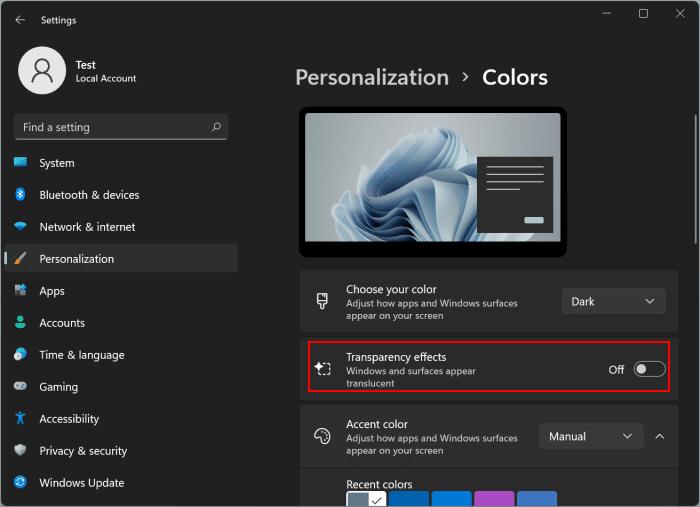 make Windows 11 taskbar black pic10