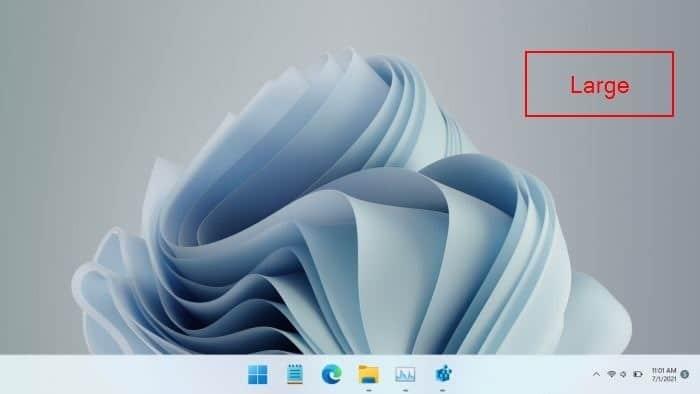 make Windows 11 taskbar large