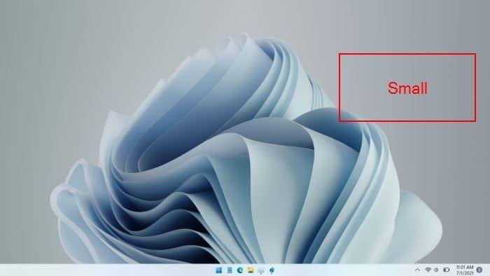 make Windows 11 taskbar smaller
