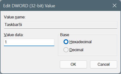 make taskbar smaller in Windows 11 pic5