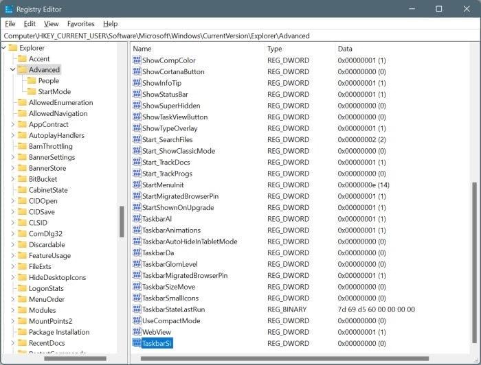 make taskbar smaller in Windows 11 pic8