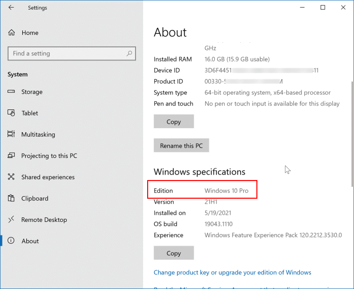 upgrade from Windows 10 home to Windows 11 Pro