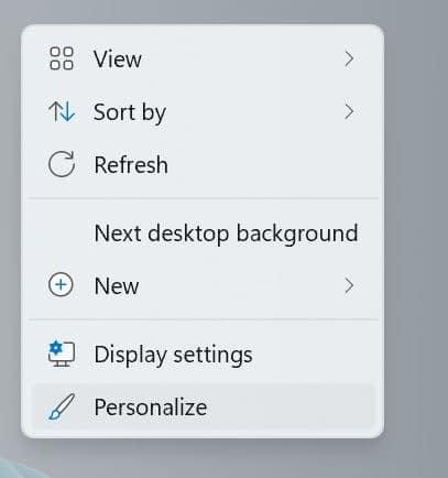 change Windows 11 wallpaper pic1