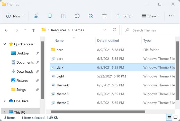 dark mode Windows 11 pic7
