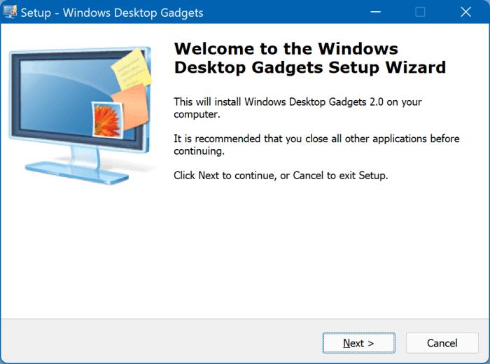 desktop gadgets in Windows 11 pic1