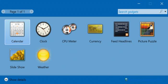 desktop gadgets in Windows 11 pic3