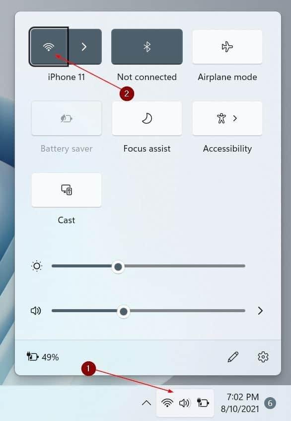turn Wi-Fi on or off in Windows 11 pic1
