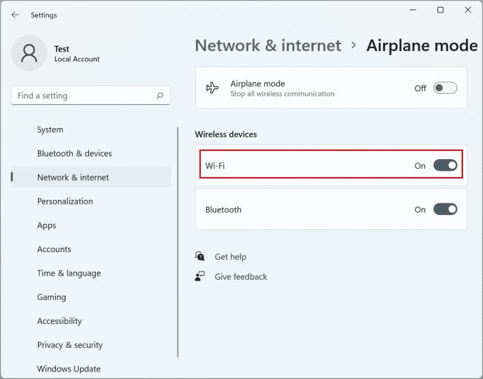 turn Wi-Fi on or off in Windows 11 pic7