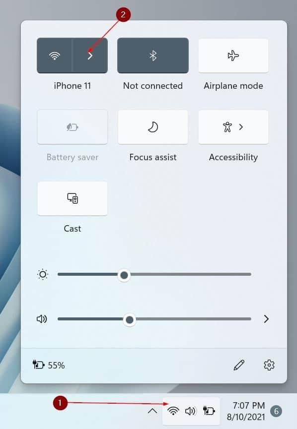 turn Wi-Fi on or off in Windows 11 pic8