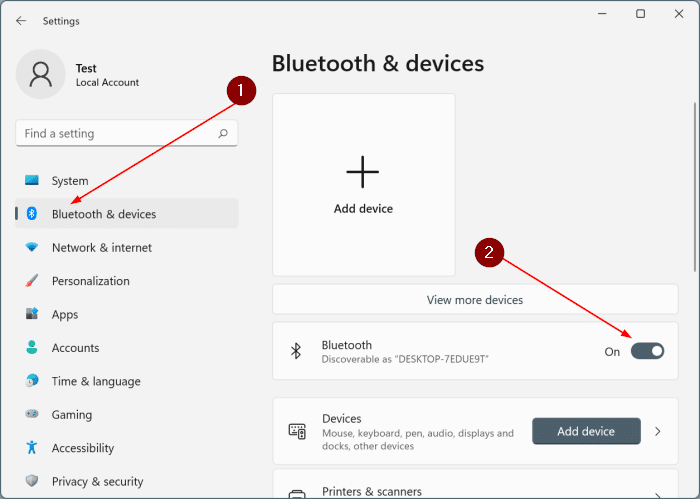 turn bluetooth on or off in Windows 11 pic3