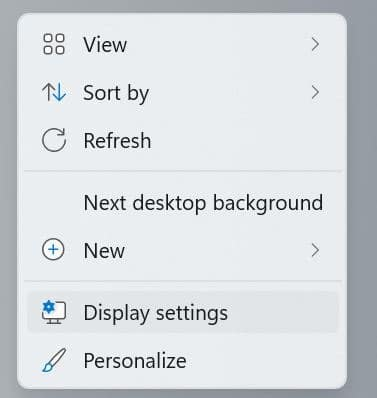 change screen resolution in Windows 11 pic1