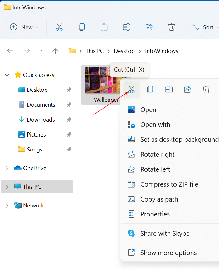 cut copy and paste in Windows 11 pic2