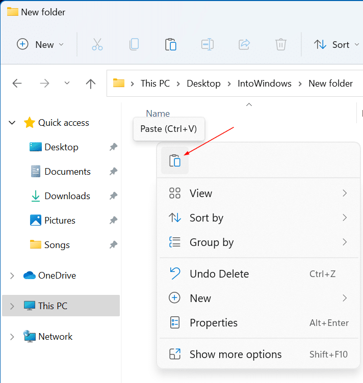 cut copy and paste in Windows 11 pic3