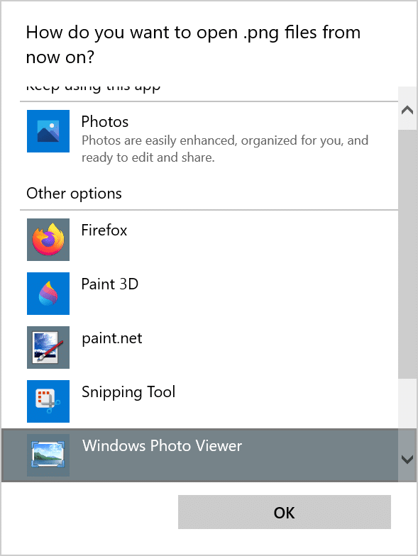 enable Windows Photo Viewer in Windows 11 pic10