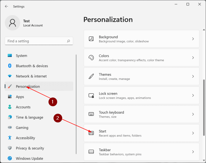 remove recommended section from start menu in Windows 11 pic1