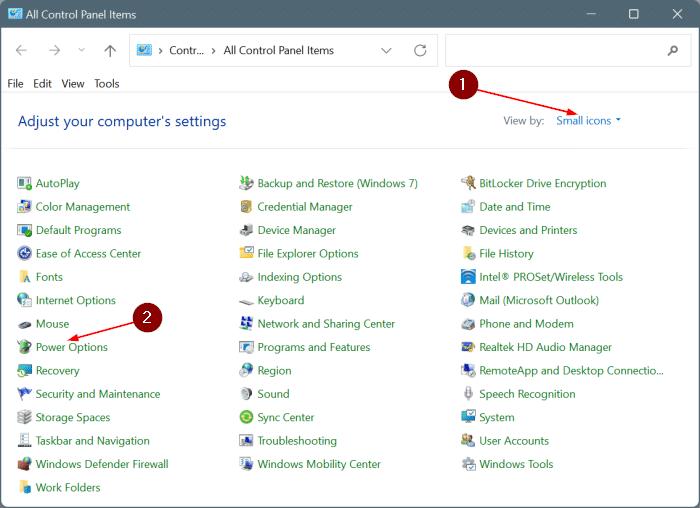 enable hibernate in Windows 11 start menu pic2